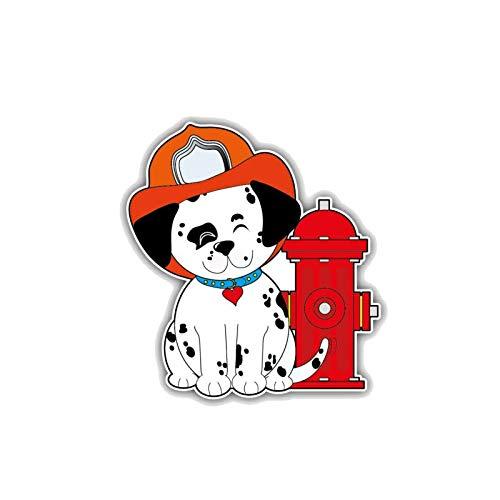HENJIA Creativo Fino Cachorro Pegatina Forma de Coche Puerta Decorativa Cuerpo Ventana Vinilo Pegatina Colorida Divertida Pegatina 11x10 cm