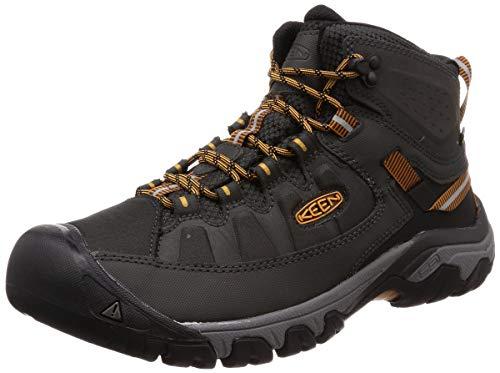KEEN Men's Targhee EXP Mid Height Waterproof Hiking Boot, Raven/Inca Gold, 11