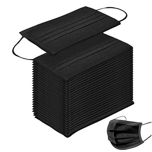 MaNMaNing Protección 4 Capas con Elástico para Los Oídos Pack 50 Unidades Alta Calidad 20201112-MANING-Negro