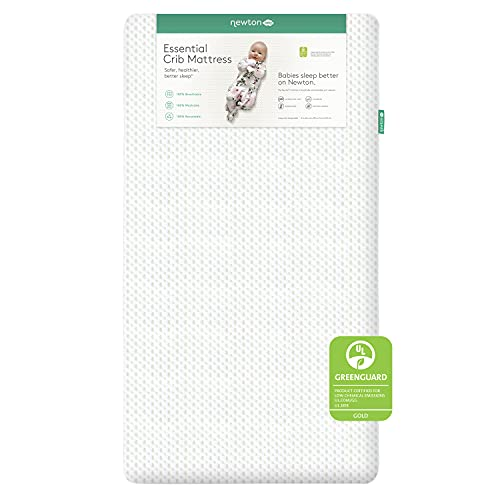 Newton Baby Essential Crib Mattress and Toddler Bed - 100% Breathable Proven to Reduce Suffocation Risk, 100% Washable, 2-Stage, Non-Toxic, Better Than Organic - Removable Cover Included, White