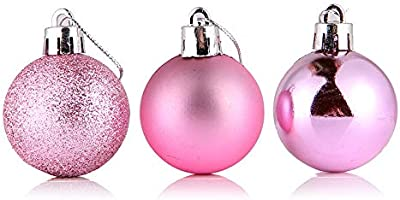 SMYLLS 48ct Christmas Ball Ornaments Shatterproof Christmas Decorations Tree Balls Small for Holiday Wedding Christmas Party Decoration Tree Ornaments (4 Colors)
