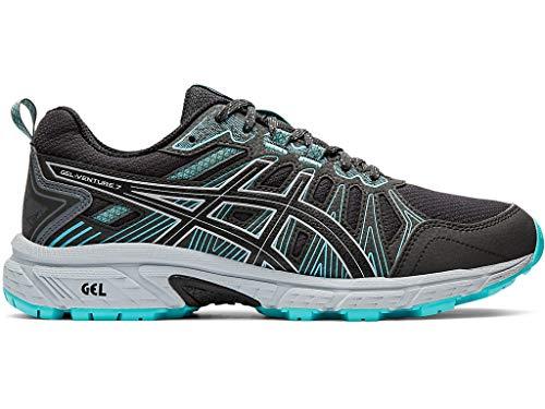Asics Gel-Venture 7 - Zapatillas de correr para mujer, Gris (Grafito gris/negro rendimiento), 38.5 EU