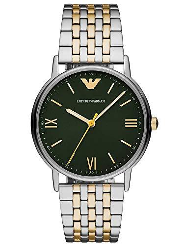 Emporio Armani Reloj Analógico para Hombre de Cuarzo con Correa en Acero Inoxidable AR11228