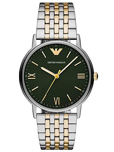 Emporio Armani Herren Analog Quarz Uhr mit Edelstahl Armband AR11228