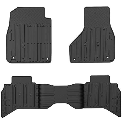 OEDRO Floor Mats Compatible for Quad Cab 2012-2018 Dodge Ram 1500, 2019-2020 Dodge Ram 1500 Classic Models, All Weather Black TPE 1st and 2nd Seat Custom Fit Liners