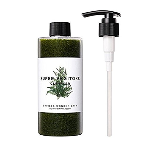 Wonder Bath Super Vegitoks Nettoyant démaquillant O2 300 ml (pompe + nettoyant)