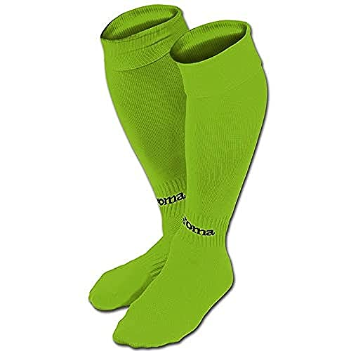 Joma Classic Calcetines de fútbol, Hombres, Verde Fluor, S
