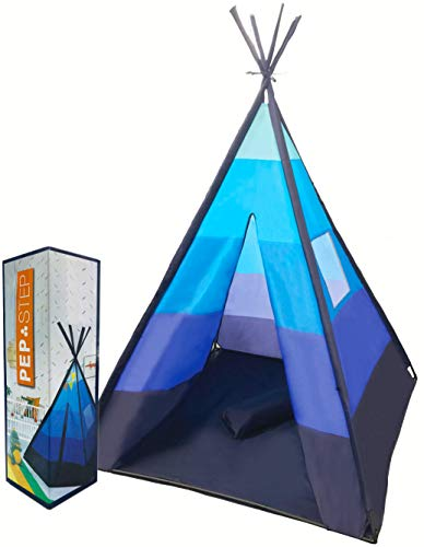 Teepee Tent for Kids | Tepee Play Tent Indoor and Outdoor Portable | Play Tent for Boy and Girls | Childrens Pop Up Tee Pee Playhouse Fort | Carry Case Included | Child Safety Test Lab CPSC Certified
