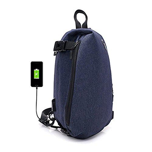 JUND New Oxford heren mode casual borstpack outdoor sportieve schoudertas effen travel schoudertas messenger bag
