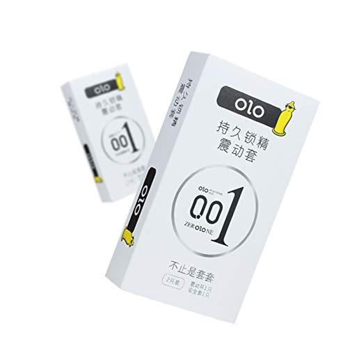 QLGRXWL Condones Condón Ultrafino para Placer Adicional para Hombres Condón Lubricado De Larga Duración con Vibración Fina (10 Condones)