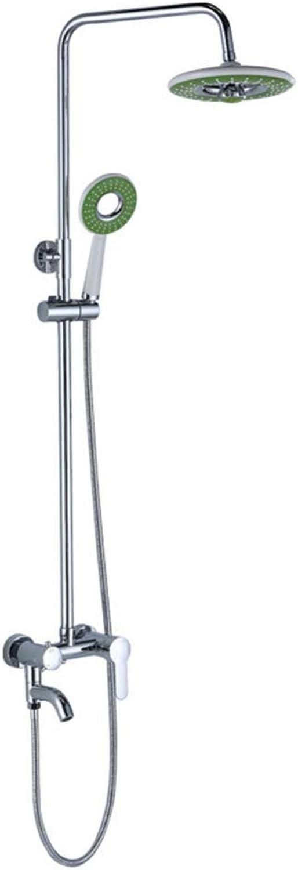 ZHH shower set wall mounted shower hand shower booster shower set bathroom shower titanium shower