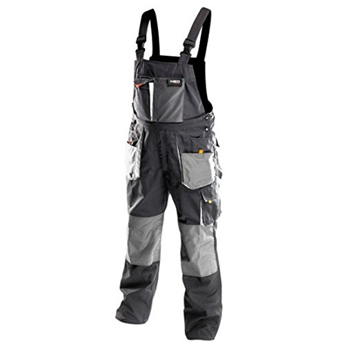 Profi Arbeitslatzhose schwarz/grau (neo), Latzhose Arbeitskleidung Arbeitshose (52.0)