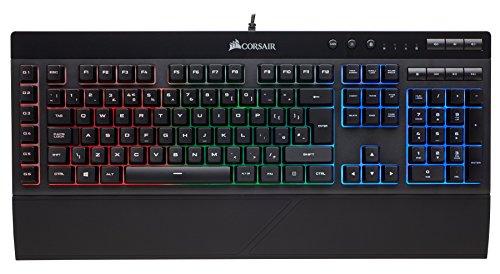 Corsair K55 RGB Tastiera Gaming (Cablato), Retroilluminazione RGB Multicolore, Italiano QWERTY, Nero