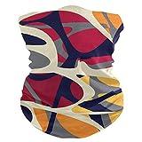 Yuanmeiju Pañuelo para la cabeza, moderno colorido geométrico protección solar tradicional bufanda para la boca para regalo deportivo, 25x50cm