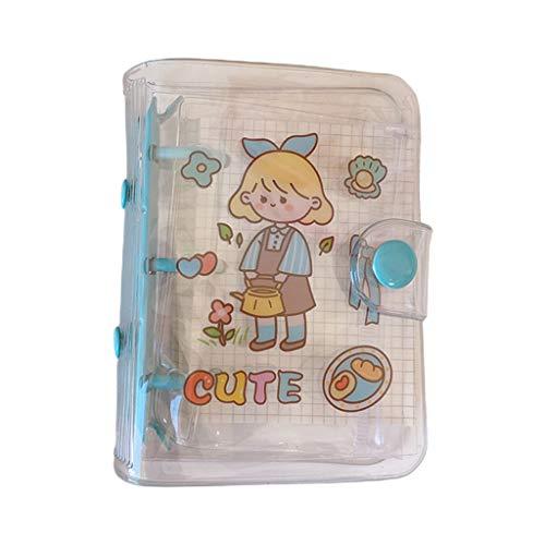 SHOTAY Kawaii Dibujos Animados 3 Agujeros Cuaderno de Hojas Sueltas Cuaderno planificador Diario Agenda papelería útiles Escolares 2# riego Chica