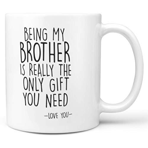 NC83 11 Oz Mein Bruder zu Sein ist die einzige Gabe Becher Tasse Hochwertige Keramik Retro Style Becher - Weihnachten White 330ml