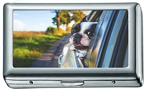 Abrigo Corto Blanco y Negro Puppy on Black Window Car 1343 Cigarrillo...