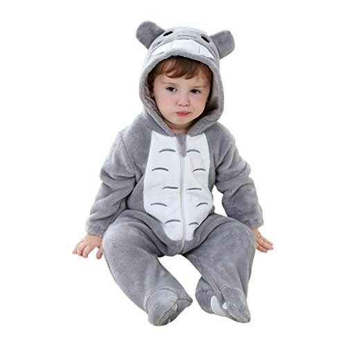 Katara 1778 Costume Totoro Neonati Bambini Tuta Kigurumi Animale Pigiama Intero con Cappuccio Bambino 0-6 Mesi