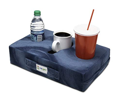 Cup Cozy Pillow (Teal) As Seen on TV The World's BEST Cup Holder. Keep your drinks close and prevent spills. Use it anywhere-Couch, floor, bed, man cave, car, RV, park, beach and more!