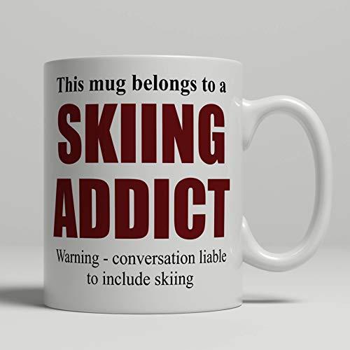 Taza de esquiar, taza de café esquiador, regalo para esquiar, taza de café, regalo para esquiar, idea de regalo para esquiar, idea de regalo para esquiar, idea de regalo para esquiar, EB Addict Skiing