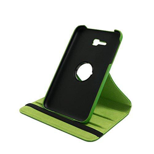 Drehbare Hülle mit Standfunktion für Samsung Galaxy Tab 3 lite 7.0 in GRÜN mit automatischer Sleep- & Wake-Up-Funktion [passend für Modell SM-T110, SM-T111, SM-T113, SM-T116]