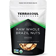 Terrasoul Superfoods Organic Brazil Nuts, 1 Lb - Raw   Unsalted   Rich in Selenium