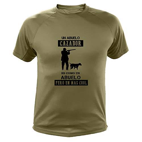 AtooDog Camiseta de Caza, Abuelo Cazador - Ideas Regalos (30200, Verde, XXL)