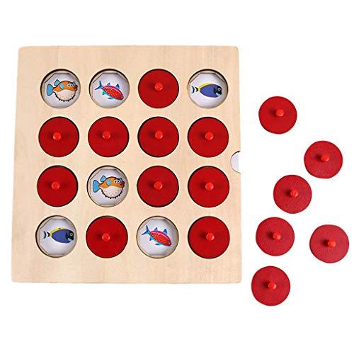 WUDUBE Memory Game for Kid, Intelligence IQ Gioco Rompicapo Allenamento Logico in Legno