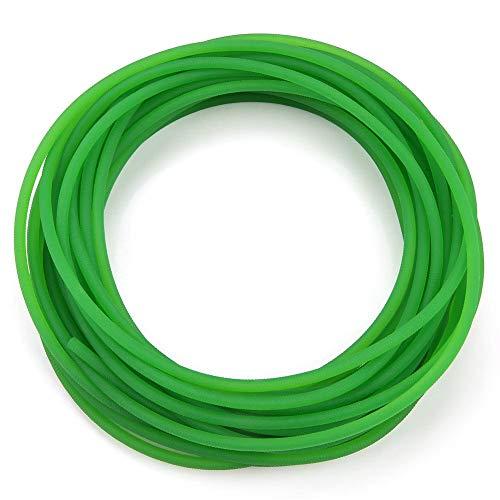 High-Performance Urethane Round Belting, PU Transmission Belt Polyurethane round belt for Drive Transmission Green (4mm x 10m)