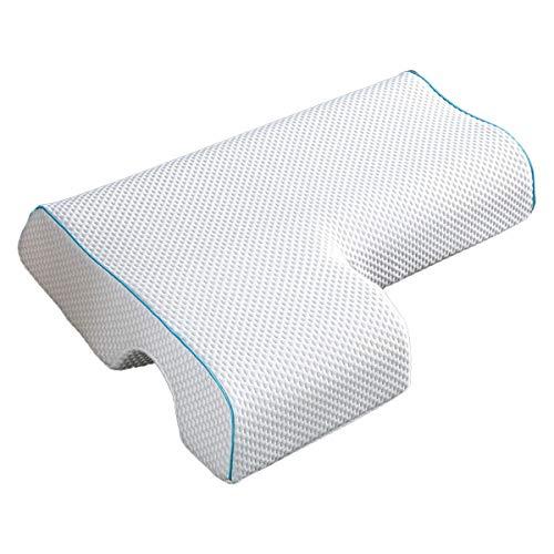 LAOSHIZI Almohadas estándar Almohada para Parejas Almohada de Abrazo arqueado con Espuma de Memoria de Rebote Lento Almohada de Pareja (Derecha)