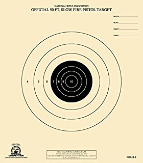The National Target Company Official NRA Target, B-2, 50 Ft. Slow Fire Pistol, Pack of 100