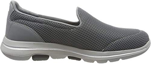 Skechers Damen Go Walk 5 Slip On Sneaker, Grau(Gray Textile/Trim Gry), 38 EU (5 UK)