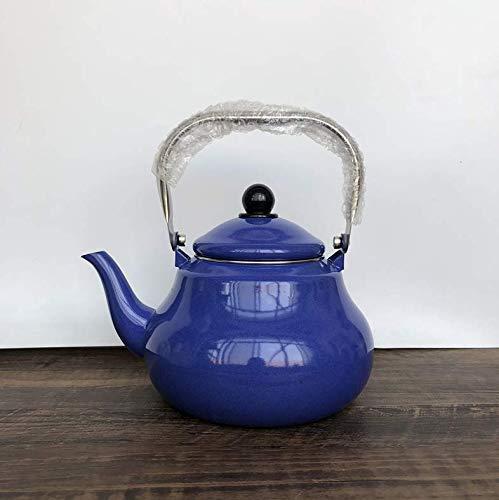 YINGGEXU Juego de té Hervidor Hervidor en forma de pera Olla Tetera de acero inoxidable Mango de café Punto de té Hotel Home Azul 2 L