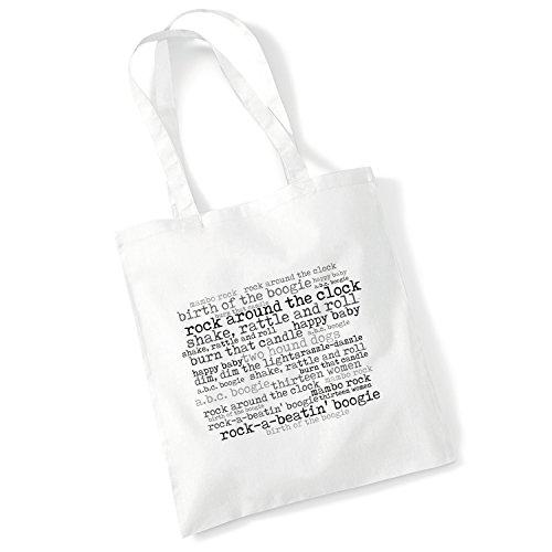 Estudio de arte Tote Bag–Bill Haley y sus cometas–Rock alrededor del reloj–'56Continental–Álbum de Música letras de canciones art print Póster Playa Gimnasio Festival bolsa regalo