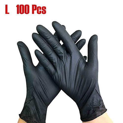 L Guantes de nitrilo negro superior Guantes sin l/átex Guantes desechables Polvo libre Ultra delgado Negro
