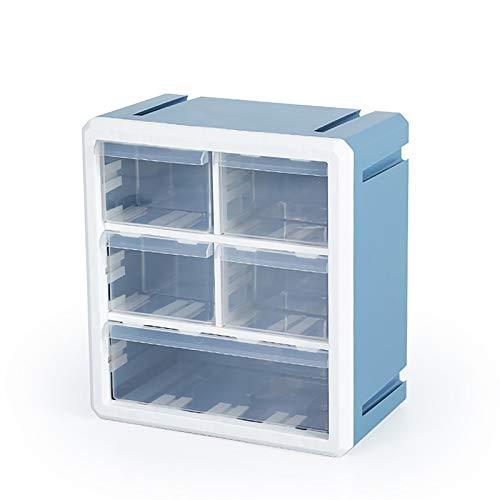 Caja De Almacenamiento Elegante Y Simple, Caja De Organizador De Juguete Portátil, Caja De Almacenamiento De Partículas Pequeño Cajón, 10.8X6.3X11.8 Pulgadas,Azul,10.8x6.3x11.8 in