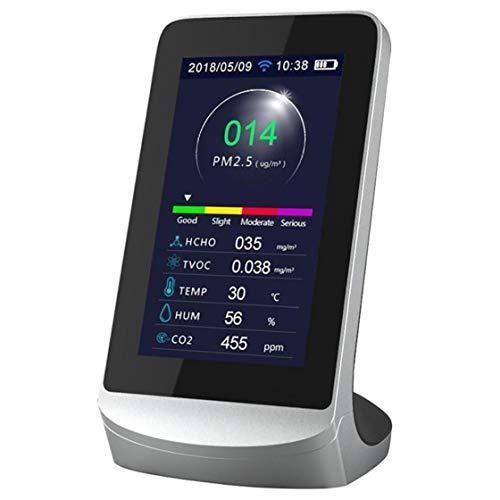 CO2-Messgeräte, LCD Display Kohlendioxid-Detektor Gas Analyzer Protable Luftqualität Tester für Heim Weiß