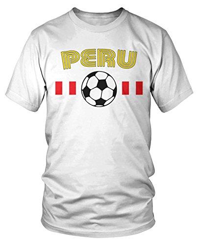 Amdesco - Camiseta de fútbol peruana para hombre -  Blanco -  Large