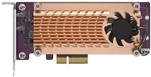QNAP QM2 2P 244A Contrôleur de Stockage PCIe Profil Bas PCIe 2.0 x4