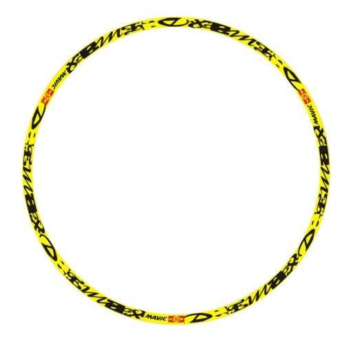 Pegatinas de bicicleta de montaña/bicicleta de montaña para 26/27.5/29 pulgadas set pegatinas de llanta para decoración de etiquetas MTB (color 29er amarillo)