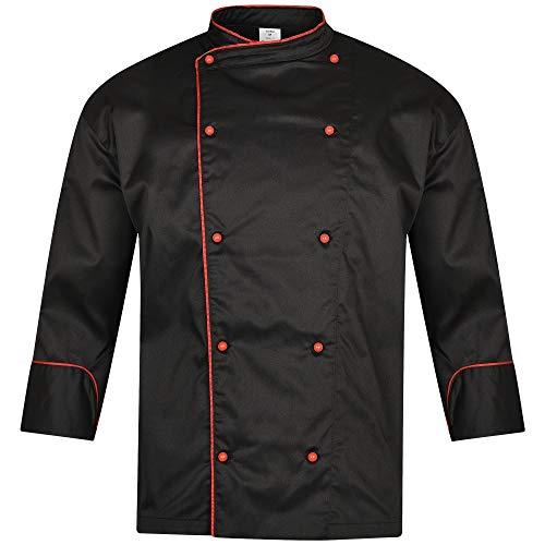 DINOZAVR Biko Nobu Giacche da Chef Uniforme Professionale Manica Lunga - Nero L