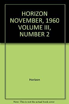 Hardcover HORIZON NOVEMBER, 1960 VOLUME III, NUMBER 2 Book