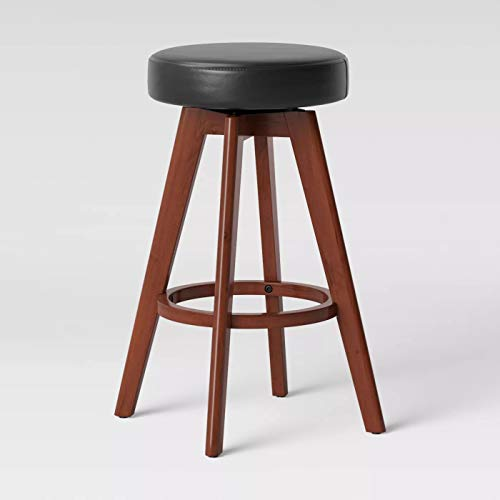 Banning Modern Round Swivel Counter Stool Espresso Faux Leather - Project 62™