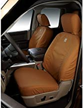 Covercraft Carhartt SeatSaver Custom Seat Covers | SSC2412CABN | 1st Row Bucket Seats | Compatible with Select Ford F-150/F-250/F-350 Models, Brown