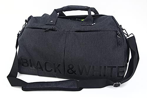 ボストンバッグ メンズ レディース ブラック&ホワイト ホワイトライン Black&White WHITE Line ゴルフ buf7231w
