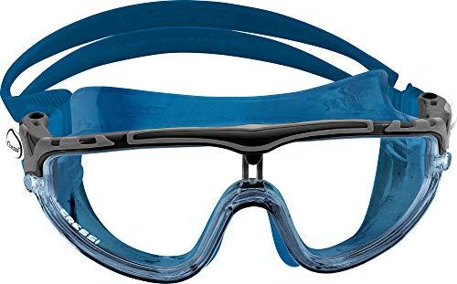 Cressi Skylight Swim Goggles, Occhialini Premium per Nuoto, Piscina, Triathlon e Sport Acquatici Unisex Adulto, Blu/Nero, Taglia Unica