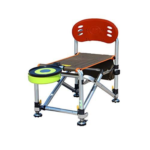 ZRJ Sillas de pesca, sillas de camping, plegables, altura y longitud, ajustable, portátil, ligero, plegable, sillas plegables