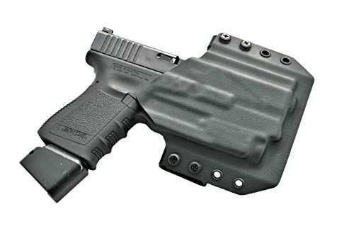Light Bearing OWB Holster for Glock 19 with Olight PL-Mini 2 | Compatible with Glock 19 / 19x / 45 / 23 / 32 with Olight PL-Mini 2 Attached | Outside The Waistband Kydex Light Bearing