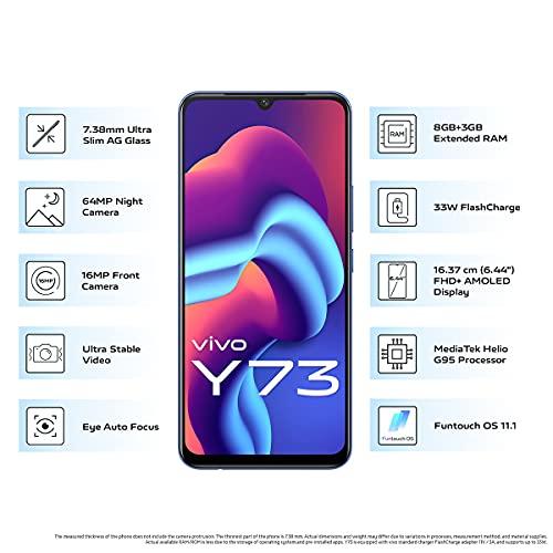 Vivo Y73 (Diamond Flare, 8GB RAM, 128GB Storage) with No Cost EMI/Additional Exchange Offers 3