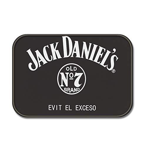Sun&Home Fußmatte, personalisierbar, lustige Fußmatte für drinnen und draußen, für Badezimmer, Dekoration, Vliesstoff, rutschfeste Fußmatten, Flanell, Jack Daniel's Evit El Exceso, 17.7x27.5 inch